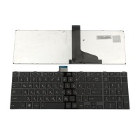 Клавиатура за Toshiba Satellite C850 C855 C850D Black FRAME Black US С КИРИЛИЦА