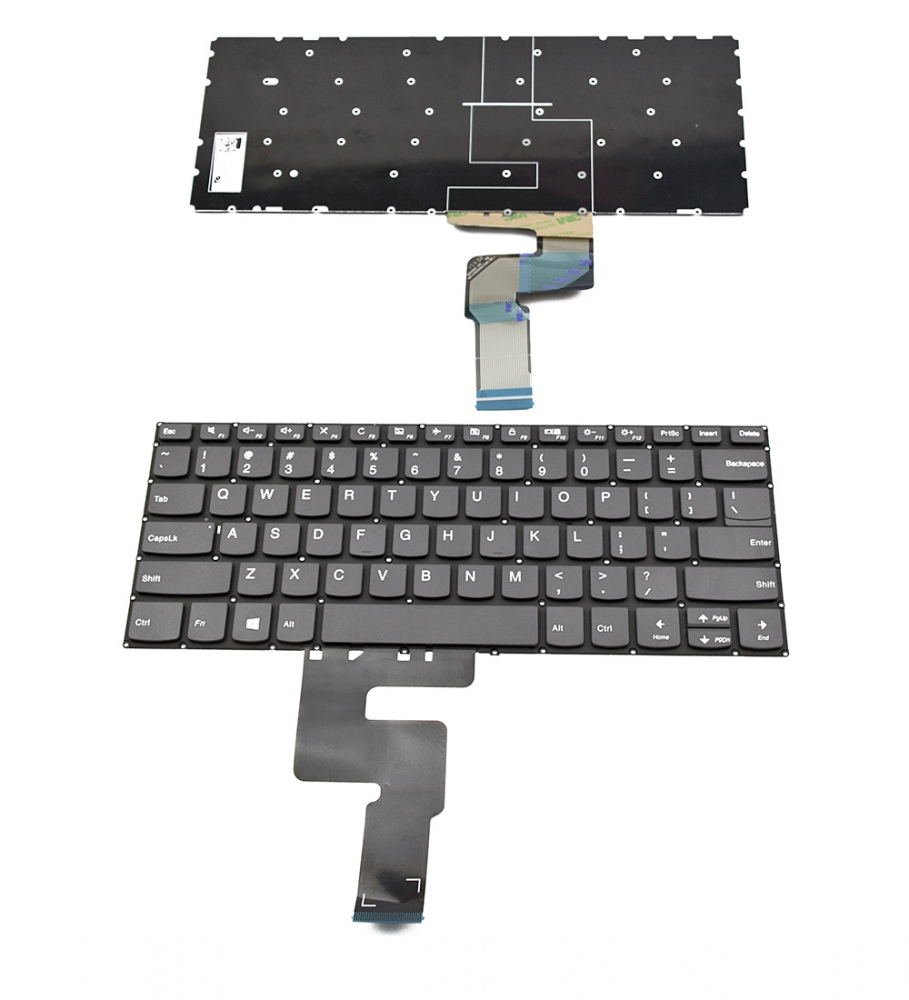 Клавиатура за Lenovo Ideapad 330-14IKB Gray Without Frame US