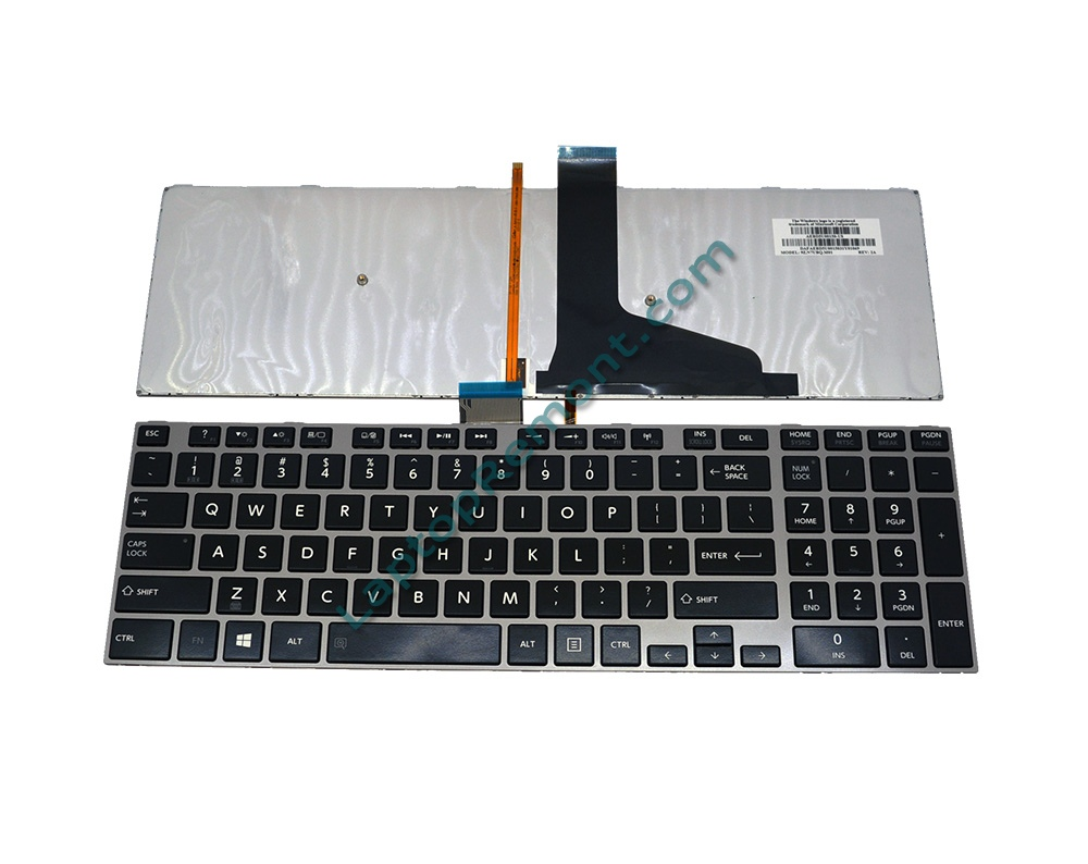 Клавиатура за Toshiba Satellite L50-A S50-A C70-A  GRAY FRAME BLACK Backlit US