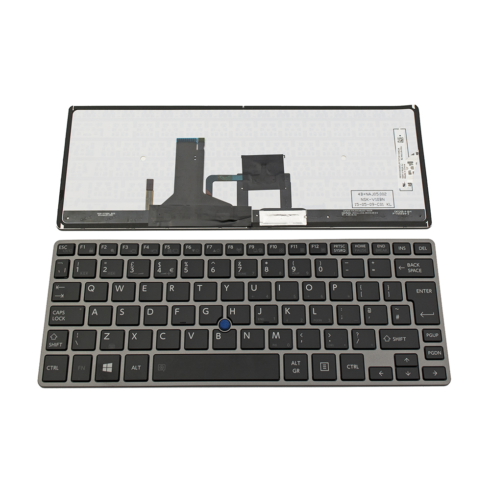 Клавиатура за Toshiba Portege Z30 Z30-B GRAY FRAME BLACK BACKLIT UK
