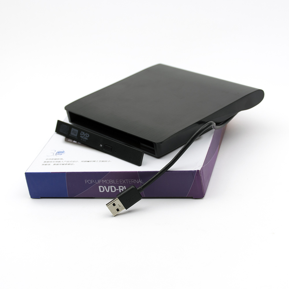CASE MOBILE EXTERNAL DVD-RW SATA USB 3.0 12.7mm Black