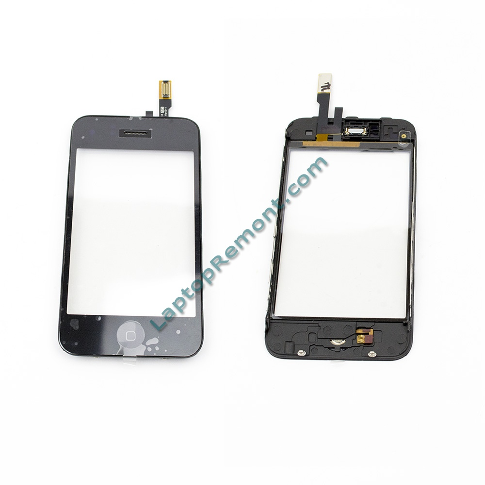 Apple iPhone 3G - Mid Frame Bezel & Touch Screen Digitizer Black