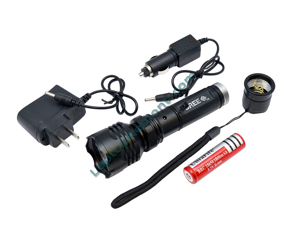 LED flashlight (фенерче) ZW-C6 CREE-C6 with charger 800lm