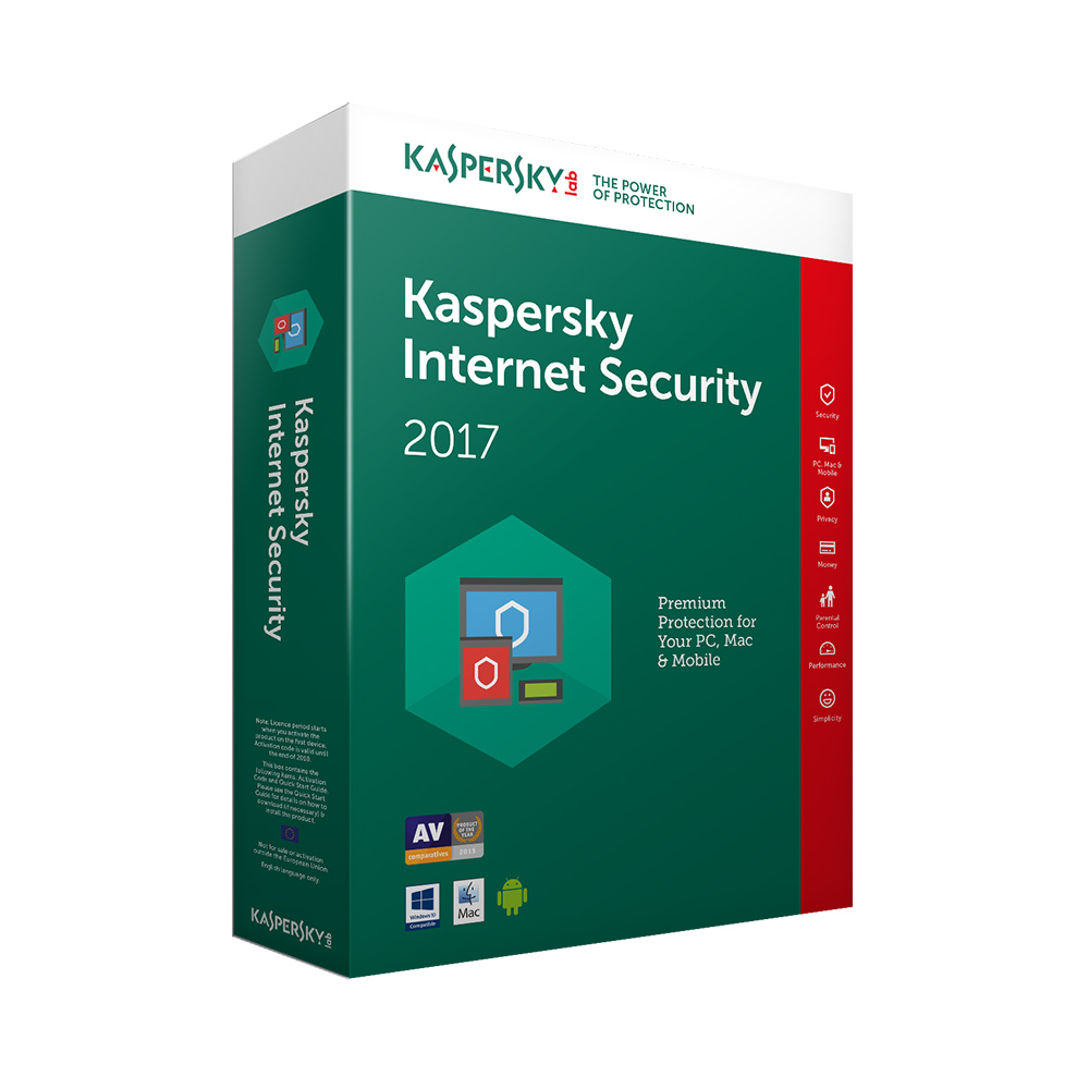 софт. Kaspersky Internet Security KIS MD 2PC 1 Year BOX - Кутия